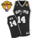 Adidas Gary Neal San Antonio Spurs Swingman Jersey: &14 Finals Patch Black Road Men's NBA