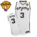 Adidas Stephen Jackson San Antonio Spurs Authentic Jersey: &3 Finals Patch White Home Men's NBA