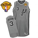 Adidas Stephen Jackson San Antonio Spurs Authentic Jersey: &3 Finals Patch Grey Alternate Men's NBA