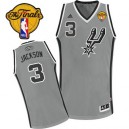 Adidas Stephen Jackson San Antonio Spurs Swingman Jersey: &3 Finals Patch Grey Alternate Men's NBA