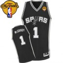 Adidas Tracy McGrady San Antonio Spurs Authentic Jersey: &1 Finals Patch Black Road Men's NBA