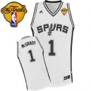 Adidas Tracy McGrady San Antonio Spurs Swingman Jersey: &1 Finals Patch White Home Men's NBA