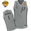 Adidas Tracy McGrady San Antonio Spurs Swingman Jersey: &1 Finals Patch Grey Alternate Men's NBA