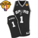 Adidas Tracy McGrady San Antonio Spurs Swingman Jersey: &1 Finals Patch Black Road Men's NBA