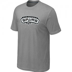 San Antonio Spurs Mens Big & Tall Short Sleeve T-Shirt - Light Grey