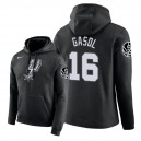 Sweats à capuche NBA Men San Antonio Spurs ^ 16 Pau Gasol City Edition - Noir