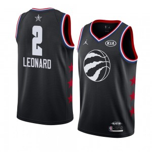 Raptors de Toronto ^ 2 Black Kawhi Leonard 2019 All-Star Game Swingman terminé Jersey Hommes