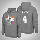 Sweat à capuche Homme San Antonio Spurs Derrick White ^ 4 Grey 2019 des séries NBA