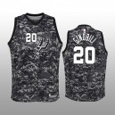 Enfants San Antonio Spurs &20 Manu Ginobili Camo City édition Maillot