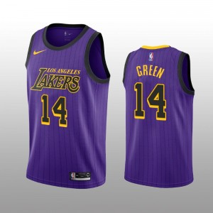 Los Angeles Lakers Danny Green Purple Swingman City édition Maillot