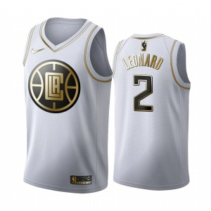 Los Angeles Clippers Kawhi Leonard Blanc Golden Edition Maillot