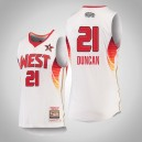 Hommes Mitchell - Ness Tim Duncan Spurs 2009 NBA All-Star Blanc Swingman Maillot