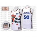 Adidas David Robinson San Antonio Spurs Authentic 1995 All Star Jersey: Throwback &50 White Men's NBA